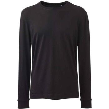 vaatteet Miehet T-paidat pitkillä hihoilla Anthem AM11 Black