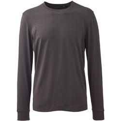 vaatteet Miehet T-paidat pitkillä hihoilla Anthem AM11 Charcoal Grey