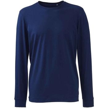 vaatteet Miehet T-paidat pitkillä hihoilla Anthem AM11 Navy