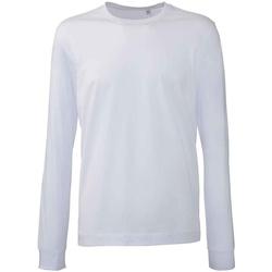 vaatteet Miehet T-paidat pitkillä hihoilla Anthem AM11 White