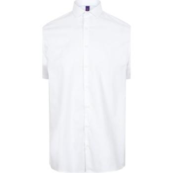 vaatteet Miehet Lyhythihainen paitapusero Henbury HB537 White