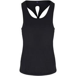 vaatteet Naiset Hihattomat paidat / Hihattomat t-paidat Tridri TR042 Black