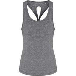vaatteet Naiset Hihattomat paidat / Hihattomat t-paidat Tridri TR042 Black Melange