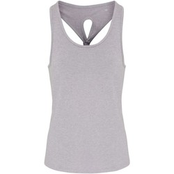 vaatteet Naiset Hihattomat paidat / Hihattomat t-paidat Tridri TR042 Silver Melange