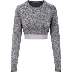 vaatteet Naiset T-paidat pitkillä hihoilla Awdis JC039 Grey Melange