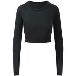 vaatteet Naiset T-paidat pitkillä hihoilla Awdis JC039 Jet Black
