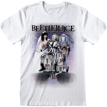 vaatteet Lyhythihainen t-paita Beetlejuice  White