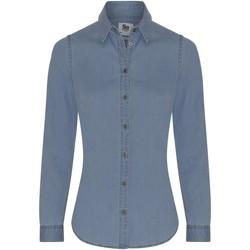 vaatteet Naiset Paitapusero / Kauluspaita Awdis SD045 Light Blue