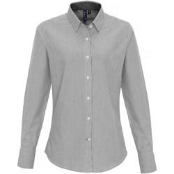 vaatteet Naiset Paitapusero / Kauluspaita Premier PR338 White/Grey