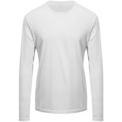 vaatteet T-paidat pitkillä hihoilla Awdis EA021 Arctic White