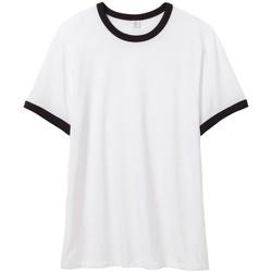 vaatteet Miehet Lyhythihainen t-paita Alternative Apparel AT013 White/Black