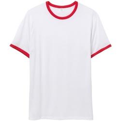vaatteet Miehet Lyhythihainen t-paita Alternative Apparel AT013 White/Red