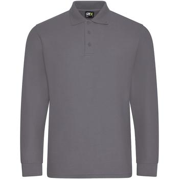 vaatteet Miehet Pitkähihainen poolopaita Prortx RX102 Solid Grey