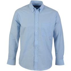 vaatteet Miehet Pitkähihainen paitapusero Absolute Apparel  Light Blue