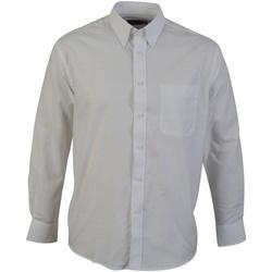 vaatteet Miehet Pitkähihainen paitapusero Absolute Apparel  White