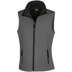 vaatteet Naiset Takit Result RS232F Charcoal/Black