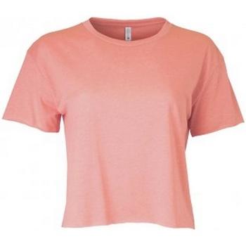 vaatteet Naiset Lyhythihainen t-paita Next Level NX5080 Desert Pink
