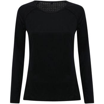 vaatteet Naiset T-paidat pitkillä hihoilla Tridri TR040 Black
