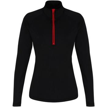 vaatteet Naiset T-paidat pitkillä hihoilla Tridri TR120 Black/Red