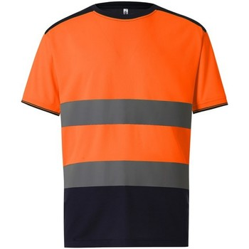 vaatteet Miehet Lyhythihainen t-paita Yoko  Orange/Navy