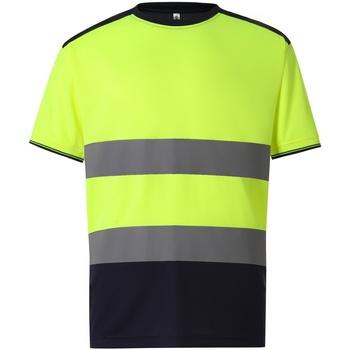 vaatteet Miehet Lyhythihainen t-paita Yoko  Yellow/Navy