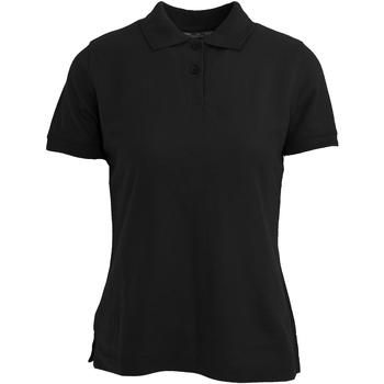 vaatteet Naiset Lyhythihainen poolopaita Absolute Apparel  Black