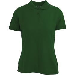 vaatteet Naiset Lyhythihainen poolopaita Absolute Apparel  Bottle Green