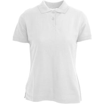 vaatteet Naiset Lyhythihainen poolopaita Absolute Apparel  White