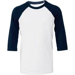 vaatteet Naiset Lyhythihainen t-paita Bella + Canvas BE218 White/ Navy