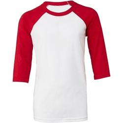 vaatteet Naiset Lyhythihainen t-paita Bella + Canvas BE218 White/Red
