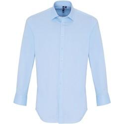 vaatteet Miehet Pitkähihainen paitapusero Premier PR244 Pale Blue