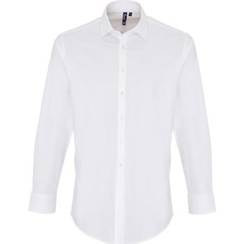 vaatteet Miehet Pitkähihainen paitapusero Premier PR244 White