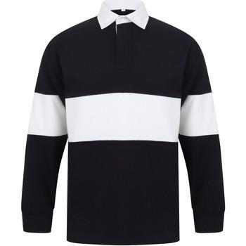 vaatteet Pitkähihainen poolopaita Front Row FR07M Navy/White