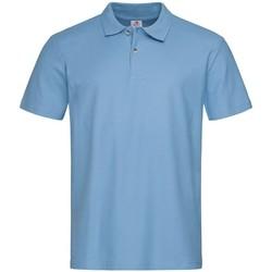vaatteet Miehet Lyhythihainen poolopaita Stedman  Light Blue