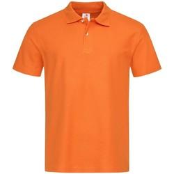 vaatteet Miehet Lyhythihainen poolopaita Stedman  Orange