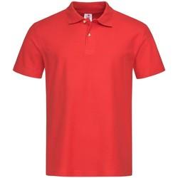 vaatteet Miehet Lyhythihainen poolopaita Stedman  Scarlet Red