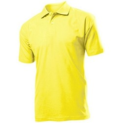 vaatteet Miehet Lyhythihainen poolopaita Stedman  Yellow