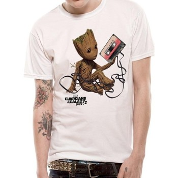 vaatteet T-paidat & Poolot Guardians Of The Galaxy 2  White