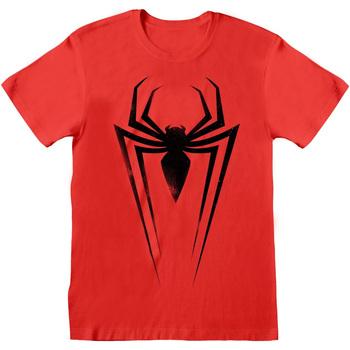 vaatteet T-paidat & Poolot Marvel  Red/Black