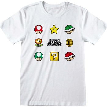vaatteet T-paidat & Poolot Nintendo  White