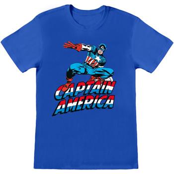 vaatteet T-paidat & Poolot Captain America  Blue