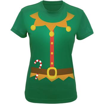 vaatteet Naiset T-paidat & Poolot Christmas Shop CS143 Green