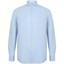 vaatteet Miehet Pitkähihainen paitapusero Henbury HB532 Light Blue