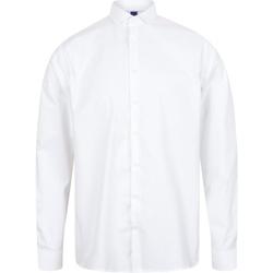 vaatteet Miehet Pitkähihainen paitapusero Henbury HB532 White