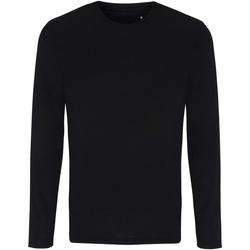 vaatteet Miehet T-paidat pitkillä hihoilla Tridri TR050 Black