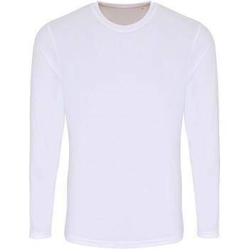 vaatteet Miehet T-paidat pitkillä hihoilla Tridri TR050 White