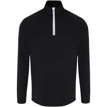 vaatteet Miehet T-paidat pitkillä hihoilla Tridri TR110 Black/White