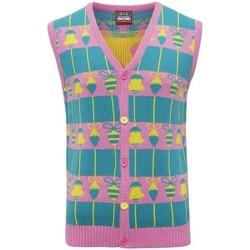 vaatteet Neuleet / Villatakit Christmas Shop CJ009 Pink/Green