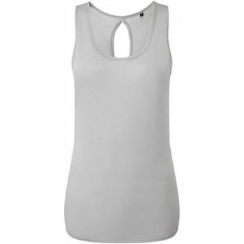 vaatteet Naiset Hihattomat paidat / Hihattomat t-paidat Tridri TR044 Cool Grey