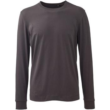 vaatteet Miehet Pitkähihainen poolopaita Anthem AM011 Charcoal Grey